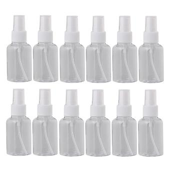 12st 50ml Vit Tom Plast Parfym Atomizer Flaska