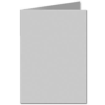 Zilvergrijs. 297mm x 420mm. A4 (Lange rand). 235gsm gevouwen kaart leeg.