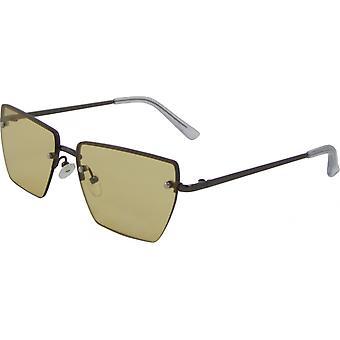 Solglasögon Unisex Rektangulär Katt. 3 silver/gul (3240-C)