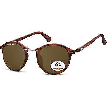 Sunglasses Unisex Panto Flamed Brown (MP22)