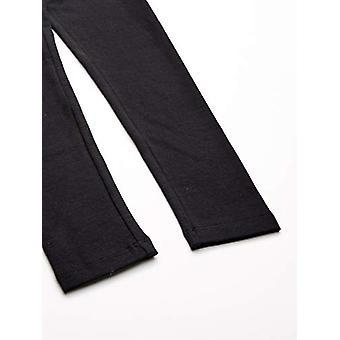 Essentials    Girls' 3-Pack Leggings, Black, 4T