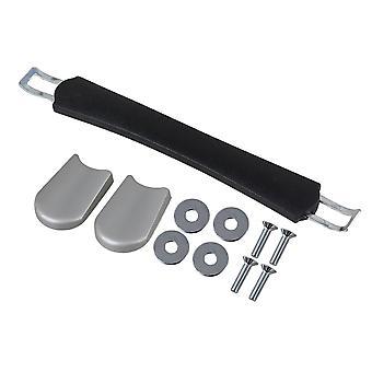 Suitcase Handle with Screws Caps 17.5cm Black B001
