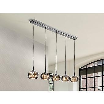 5 Licht Crystal Hanging Plafond Hangspiegel, G9