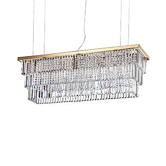 8 Light Ceiling Pendant Gold