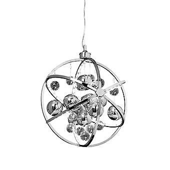 Sfäriskt tak hängande ljus krom glas bollar