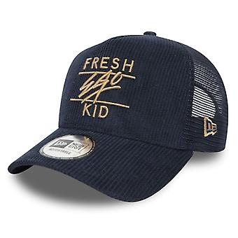 Fresh Ego Kid | Fek-581 New Era Mesh Cord Trucker Cap - Navy