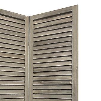 3 Panel Grey Shutter Screen Room Divider