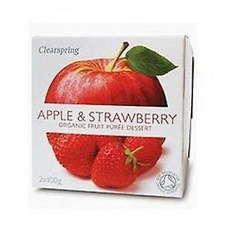Clearspring - Fruit Puree Apple & Strawberry 2 X 100g