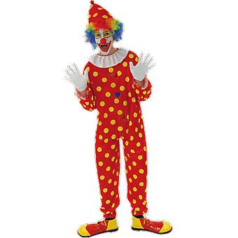 Orion kostuums mens rode polka dot Clown Circus carnaval fancy dress