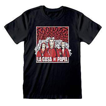 Money Heist Unisex Adult Group Shot T-Shirt