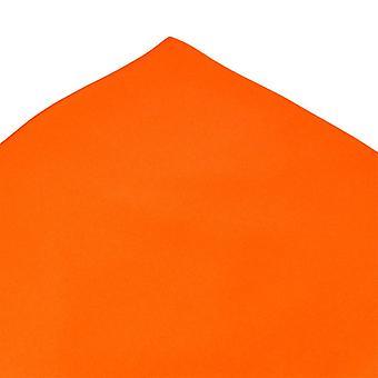 Ties Planet Plain Orange Silk Pocket Square