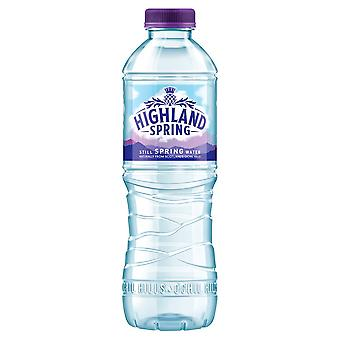 24 x500ml Highland Natural Still Spring Water Screw Cap Drink Healthy Hydrate