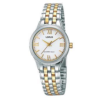Lorus Damen zwei Ton Armband Uhr mit Gold römischen Ziffern (Modell. RRS99TX9)