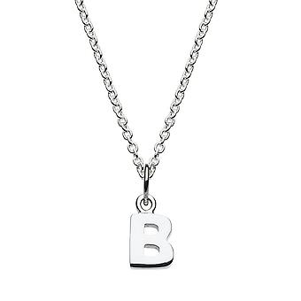 Dew Sterling Silver Dinky B Initial Pendant 9092HPB027