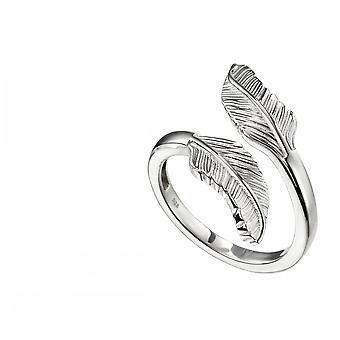 התחלות טבעת נוצה כפולה מכסף סטרלינג R3701