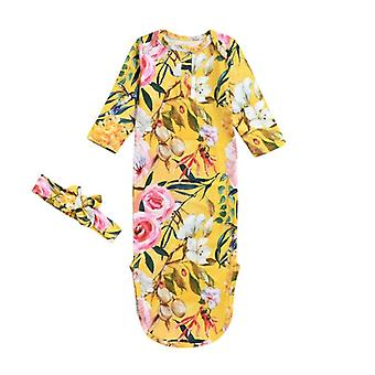 Cotton Swaddle Blanket Wrap Gown Sleeping Bag Sleepwear For Kids