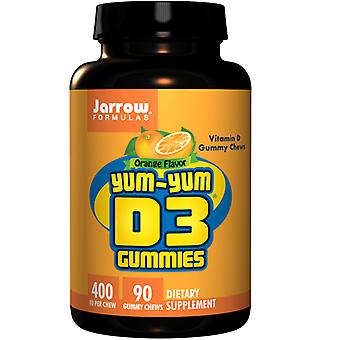 Jarrow Formulas Yum-Yum, 400 IU, D3 Gummies 90 Purut