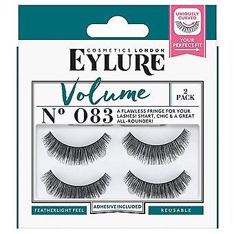 Eylure Volume Strip Lashes - Nr. 083 - Featherlight Gefühl und wiederverwendbar - Twin Pack