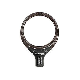 Master Lock Black Steel Rigid Combination Cable 0.9m x 12mm MLK8229E
