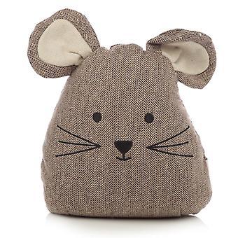 Puckator Mouse Door Stop, Brown