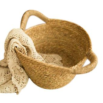 Newborn Photo Shooting Woven Baskets, Baby Full Moon Photography Props (only A
