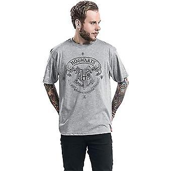 Harry Potter unisexe adultes Poudlard une couleur design T-Shirt