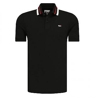 Polo Tommy Hilfiger TJM Classics Tipped Stretch Polo Negro