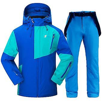 Juego de chaquetas y pantalones de snowboard impermeables y a prueba de viento