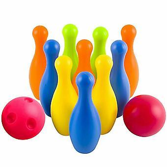 M.Y Giochi Plastica 10pc Bowling Set In Porta