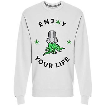 あなたの人生を楽しむ大麻スウェットシャツメン&アポス;s - シャッターストックによる画像