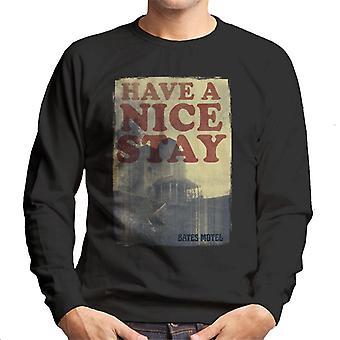 Psycho Bates Motel Have A Nice Stay Men's Sweatshirt