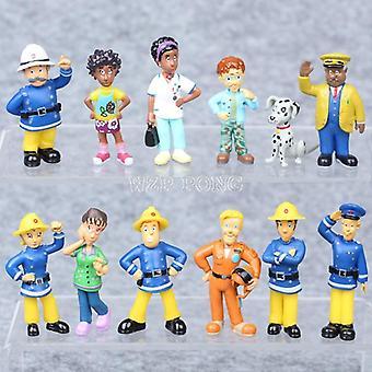 かわいい漫画消防士サムアクションフィギュア人形おもちゃクリスマス(opp