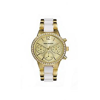 Mark maddox horloge gouden chique mp6002-25
