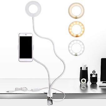 حامل الهاتف 3 أوضاع حلقة الإضاءة الخفيفة التصوير مع تعبئة الضوء لايف