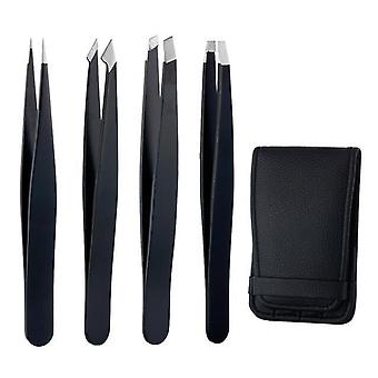 Stainless Steel, Precision Straight, Tweezers Repair Tools For Eyebrow