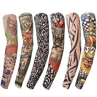 Benbilry 6pcs art braț fals tatuaj mâneci acoperi pentru unisex partid cool femeie tatuaje de moda & bo