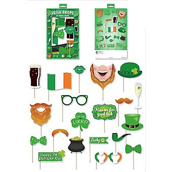 St patrick'Äôs deň írskej party fotobúdka rekvizity príslušenstvo - 20 kusov