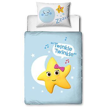 Little Baby Bum Star 4 in 1 Junior Bedding Bundle (Dekbed, Kussen en
