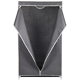 Kleiderschrank Textil dunkelgrau 80x50x160cm