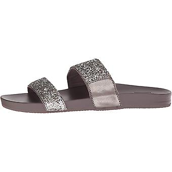 Reef Womens Sandals Vista | Vegan Leather Slides for Women With Cushion Bounc...
