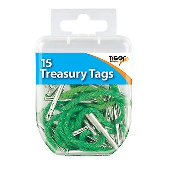 Tiger Stationery Treasury Tags (Pack of 15)