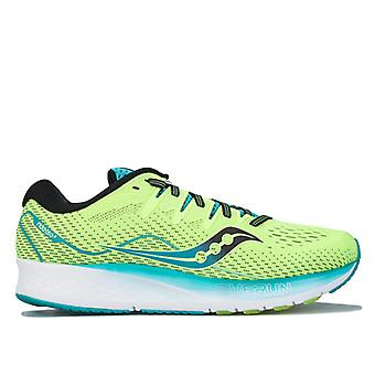 Men's Saucony Ride ISO 2 Running Shoes in Green