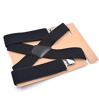 Wide Elastic Adjustable Men Trouser Braces Suspenders With Strong Metal Clips