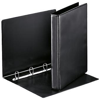 Esselte 49733 Essentials Presentation Binder 4 D Ring 25mm Capacity Black