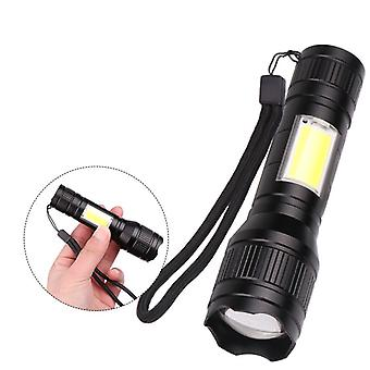 XANES 1450 T6+COB Flashlight USB Rechargeable 3 Modes Work Lamp Camping Hunting Portable Emergency L