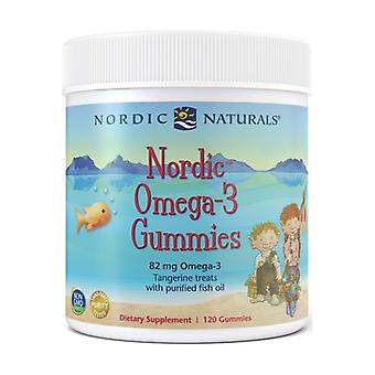 Nordic Omega-3 Gummies, 82mg Tangerine Treats 120 units
