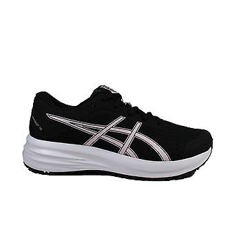Asics Patriot 12 GS Black/Pink Salt Mesh Childrens Lace Up Running Trainers