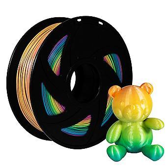 Pla Filament Regenbogen Farbe Filament Pla Spule 2.2 Lb 1kg Rolle 3d Drucker Teile