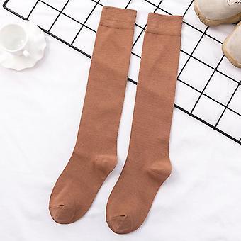 Retro Kadınlar Pamuk Sonbahar Kış Uzun Rahat Kalın Sıcak Çorap