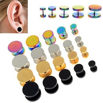 Stainless Steel Cheater Faux Fake Ear Plug